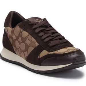 Coach Mason Sneakers Khaki/Chestnut Size 8.5 EUC